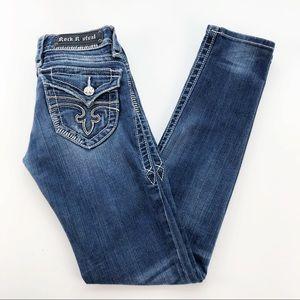 Rock Revival Womens Jen Skinny Jeans Size 26